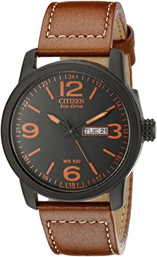 citizen-eco-drive-mens-bm8475-26e-stainless-steel-watch-with-leather-strap