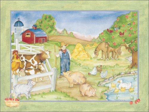 "Art 4 Kids ""Apple Tree Farm"" Mounted Art Print, 24""X18"" front-646259"