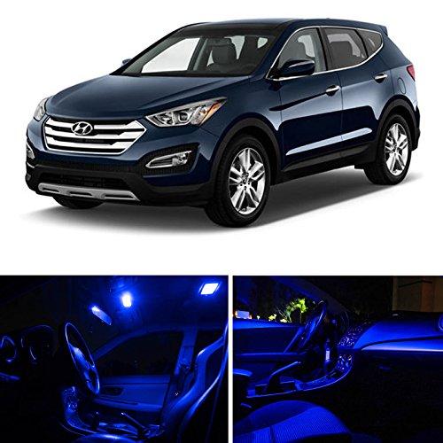 Ledpartsnow Hyundai Santa Fe 2013-2014 Blue Premium Led Interior Lights Package Kit (5 Pieces)