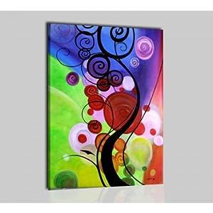 Quadri moderni astratti olio su tela dipinti a mano for Fiori dipinti a olio