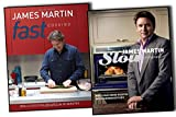 James Martin Fast & Slow Cooking 2 Books Collection Pack Set (Fast Cooking: Really Exciting Recipes in 20 Minutes, Slow Cooking: Mouthwatering Recipes with Minimum Effort) James Martin