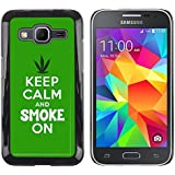 Design #3 : Graphic4You Keep Calm And Smoke On Design Thin Slim Rigid Hard Case Cover For Samsung Galaxy Core...
