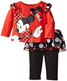 Disney Baby-Girls 2 Piece Skirt and Legging Set, High Risk Red, 0/3 Months