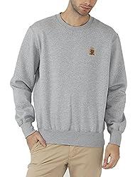 Fahrenheit Men's Fleece Sweat Shirt (8903942217272_Grey_Medium)
