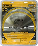 DEWALT-DW3128P5-80-Tooth-and-32T-ATB-Thin-Kerf-12-inch-Crosscutting-Miter-Saw-Blade-2-Pack