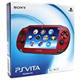 Cosmic Red Sony PlayStation PS Vita Portable Handheld Game System Console [REGION FREE 3G/Wi-Fi MODEL]
