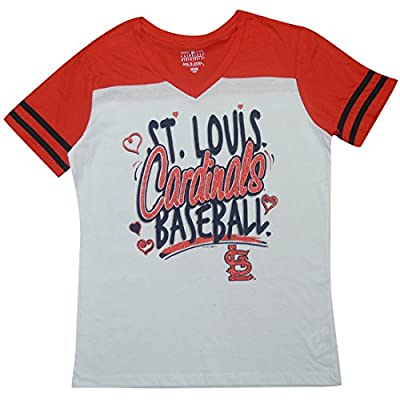 ST. LOUIS CARDINALS Girls MLB Short Sleeve Glitter T-Shirt