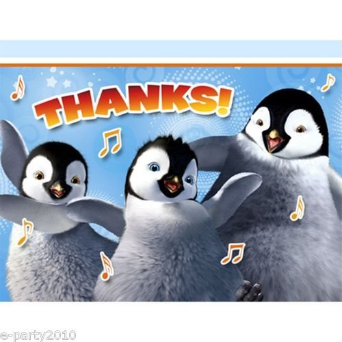Happy Feet 'Two' Thank You Notes W/ Envelopes (8Ct) front-1012067