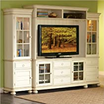 Hot Sale Riverside Furniture Placid Cove TV Entertainment Center in Honeysuckle White