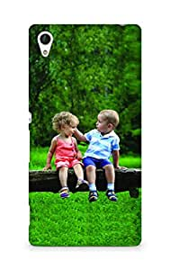 Amez designer printed 3d premium high quality back case cover for Sony Xperia Z4 (Lovely Kids Sitting on the Tree)