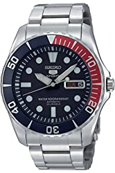 SEIKO SNZF15K1 Men's Automatic Dive Stainless steel Case & Bracelet,Rotating Bezel,100m WR,SNZF15