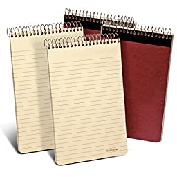 Ampad Gold Fibre Retro Writing Pad, Red Cover, Ivory Paper, 5 x 8, Medium Rule, 80 Sheets, 1 Each (20-007), 2 Packs