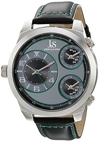 Joshua y para hombre Sons JS88GN analógica de cuarzo japonés reloj de Hombre de estilo