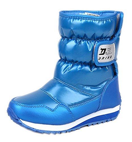 EOZY Bébé Bottes d'Hiver Enfant Bottines Chaud PU Chaussures de Neige Antidérapant
