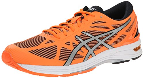 ASICS Men's Gel DS Trainer 20 Running Shoe, Flash Orange/Silver/Black, 12 M US