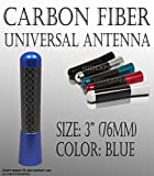 3 inch / 76 mm JDM BLUE SHORT UNIVERSAL ANTENNA CARBON FIBER FAST SHIPPING
