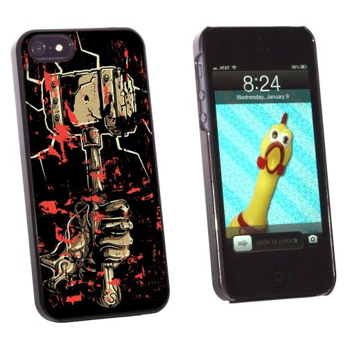 Hand Hammer and Blood - Hephaestus Vulcan Thor - Snap On Hard Protective Case for Apple iPhone 5 5S - Black