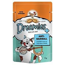 Dreamies Cat Treats Anti-Hairball - New Care Range From 55G