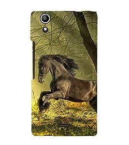 EPICCASE Racing Horse Mobile Back Case Cover For Micromax Selfie 2 Q340 (Designer Case)