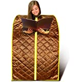 EMF Safe Portable Foldable Far FIR Infrared Large Sauna Spa, Detox with Negat