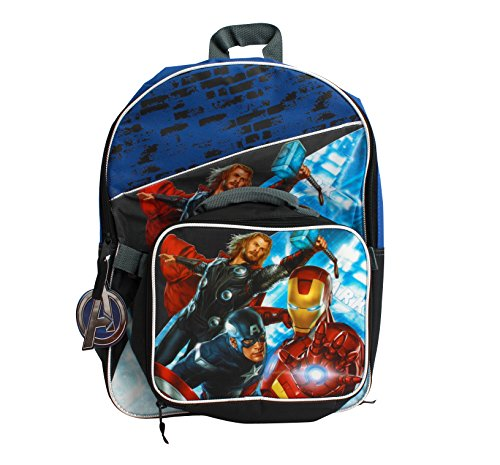 "16"" Full Size Avengers Back Pack with Detachable Lunch Bag"
