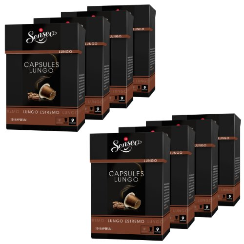 Shop for Senseo Lungo Estremo, Douwe Egberts, Pack of 8, 8 x 10 capsules, Nespresso compatible from Douwe Egberts