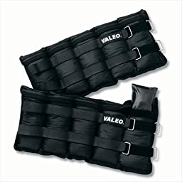 Valeo 10-Pound Adjustable Ankle / Wrist Weights