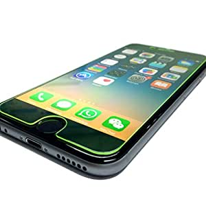 D&P [Neon Edge Series] Iphone 6 Iphone 6s Tempered Glass Screen Protector [Cool Green Hornet] +Matt Film for Back, Eyesight Protection, Olephobic Coating, 9h Hardness, Invisible Shield [1+1 Pack]