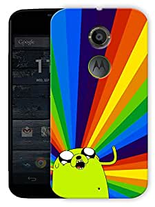 """Tripped Out Cartoon - Green Printed Designer Mobile Back Cover For """"Motorola Moto X2"""" By Humor Gang (3D, Matte Finish, Premium Quality, Protective Snap On Slim Hard Phone Case, Multi Color)"""
