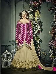 Khodiyar Fashion Pink Banglori Silk Embroidery Women's Semi Stiched Lehenga Choli