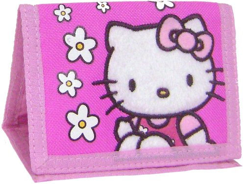 Hello Kitty : Tri-fold Wallet – White Flowers (Pink)