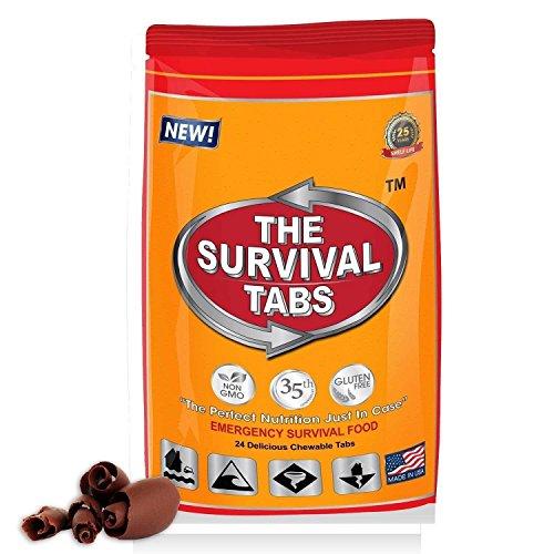 Survival Tabs 2 serving food storage Breakfast, Lunch, Dinner meal package