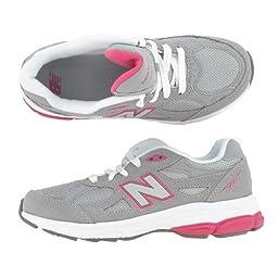New Balance KJ990 Lace-Up Running Shoe (Little Kid/Big Kid),Grey/Pink,12 M US Little Kid