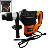 "1100W 1-1/2"" Electric Hammer Drill SDS + Demolition Bit Drill Chuck Chisel Bits Variable SP 1.5HP Powerful Chipping Tool"