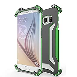 Samsung Galaxy S6 Edge Case,Galaxy S6 Edge Metal Case ,Outdoor Ultra Light Cool Aluminum Metal Cover [Shockproof Dropproof] Phone Case for Samsung Galaxy S6 Edge Green