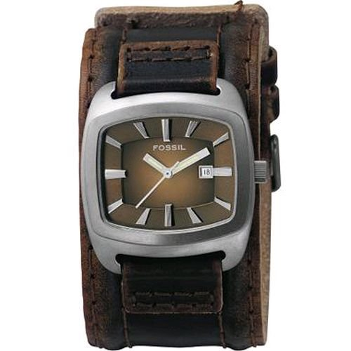 Fossil Cuff Three Hand Brown Dial Watch