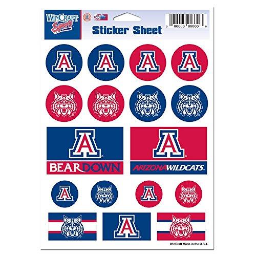 NCAA University of Arizona Vinyl Sticker Sheet, 5