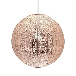 Moroccan Ball Ceiling Light Fitting Lamp Shade Modern Chandelier - Copper from CC