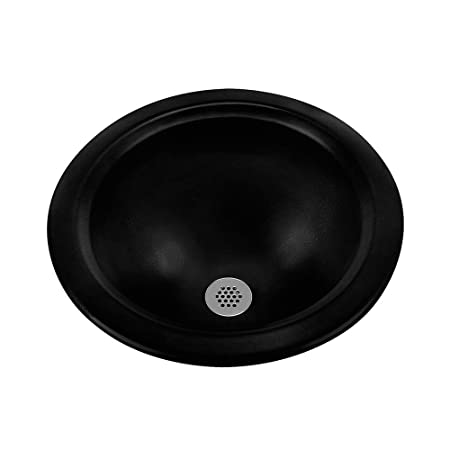 Ceramics Amber Round Bathroom Sink Sink Finish: Black