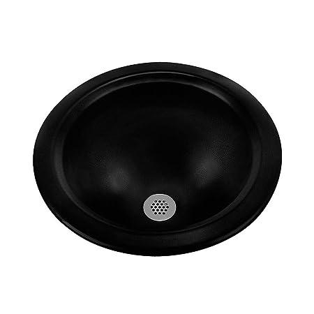 Ceramics Amber Round Bathroom Sink Sink Finish: Black