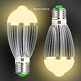 (Pack of 4)XJLED® 9W Led Glühlampen E27 Based, IR led Light Bulbs,Infrarot Lampen,Hoflampe Gartenlampe,AC85-265V,LED Lampen für Wohnzimmer,Sicherheitsbeleuchtung (9W 4Pcs, Warmwhite)