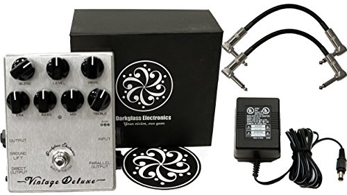 Darkglass Vintage Deluxe Preamp/Overdrive Stomp Box Effect Pedal w/ Power Supply and Patch Cables