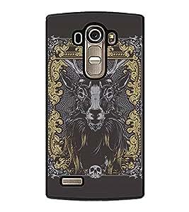 Fuson Premium 2D Back Case Cover Designed bull With red Background Degined For LG G4::LG G4 H815