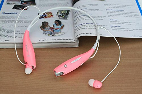 Soundsoul(Tm) Hanging Neck Stereo Bass Universal Wireless Bluetooth Handsfree Headset Earphone For Iphone Lg(Pink)