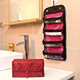 Greenery Large Capacity 4 Layer Roll Up Travel Storage Bag Foldable Toiletry Bags Organizer Cosmetic Makeup Bag...