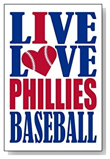 Live Love I Heart Phillies Baseball lined journal - any occasion gift idea for Philadelphia Phillies fans from WriteDrawDesign.com