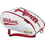 100 Year Tour 15 Pack Tennis Bag White and Red by Wilson