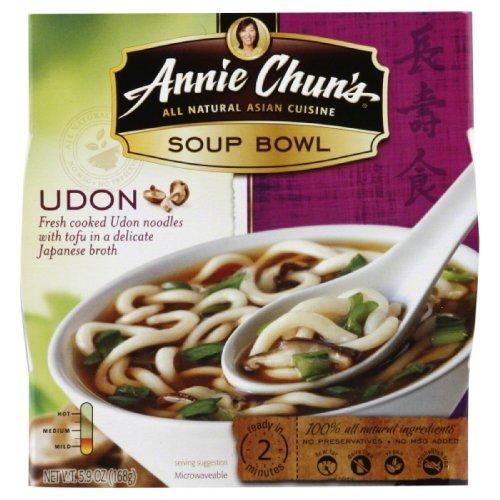 Annie Chun'S Udon Soup Noodle Bowl, 5.9-Ounce Bowls (Pack Of 6)