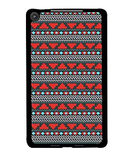 PrintDhaba Tribal Pattern D-5470 Back Case Cover for ASUS GOOGLE NEXUS 7 2013 (Multi-Coloured)
