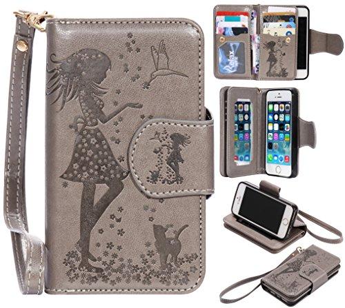 cozy-hut-funda-iphone-5-iphone-5s-flip-funda-carcasa-case-nina-mariposas-flores-gato-modelo-creative